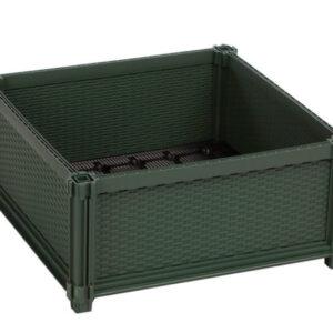 kit huerto urbano modular plastico cuadrado verde 50x50x25 cm