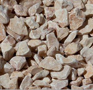 piedra triturada rosa