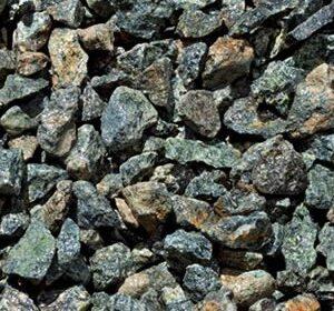 piedra triturada verde