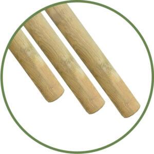 tutores de madera sin punta