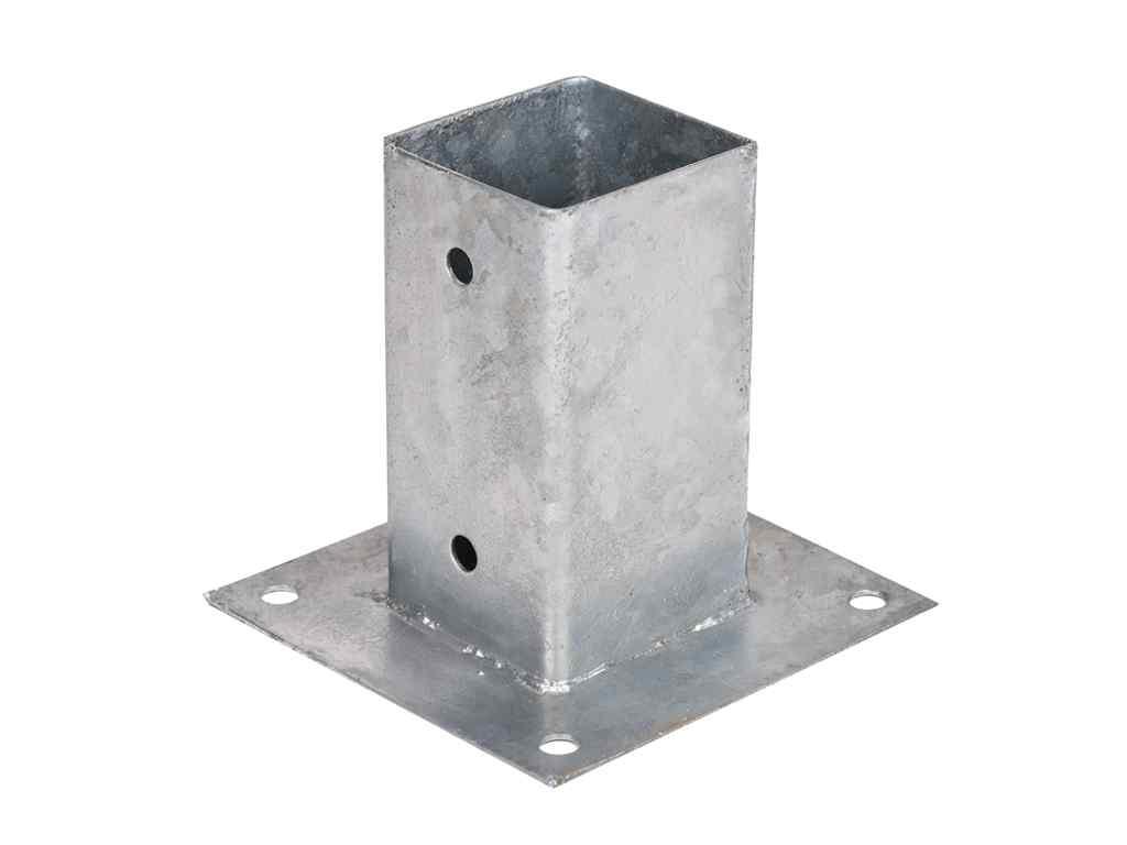Anclajes Cuadrados Galvanizados Postes Madera - 7 x 7cm