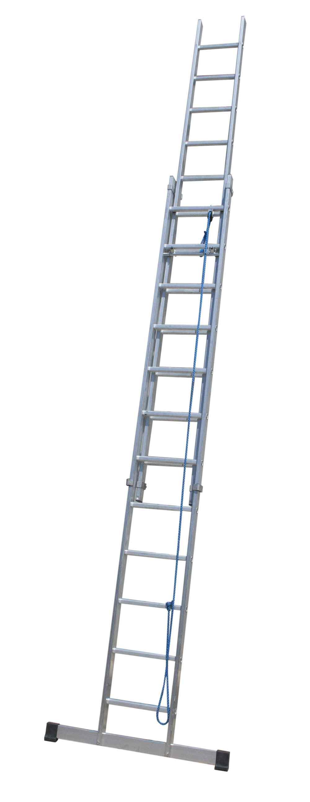 Escalera doble extensión mecánica - 12 x 2 Peldaños