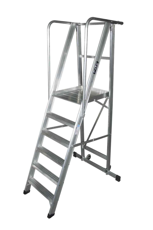 Escalera Plegable con Plataforma - 2 Peldaños