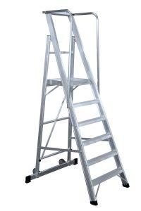 Escalera con Plataforma Plegable - 2 Peldaños