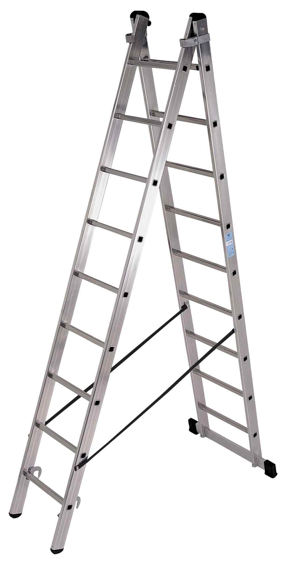 Escalera doble con base - 6 x 2 Peldaños