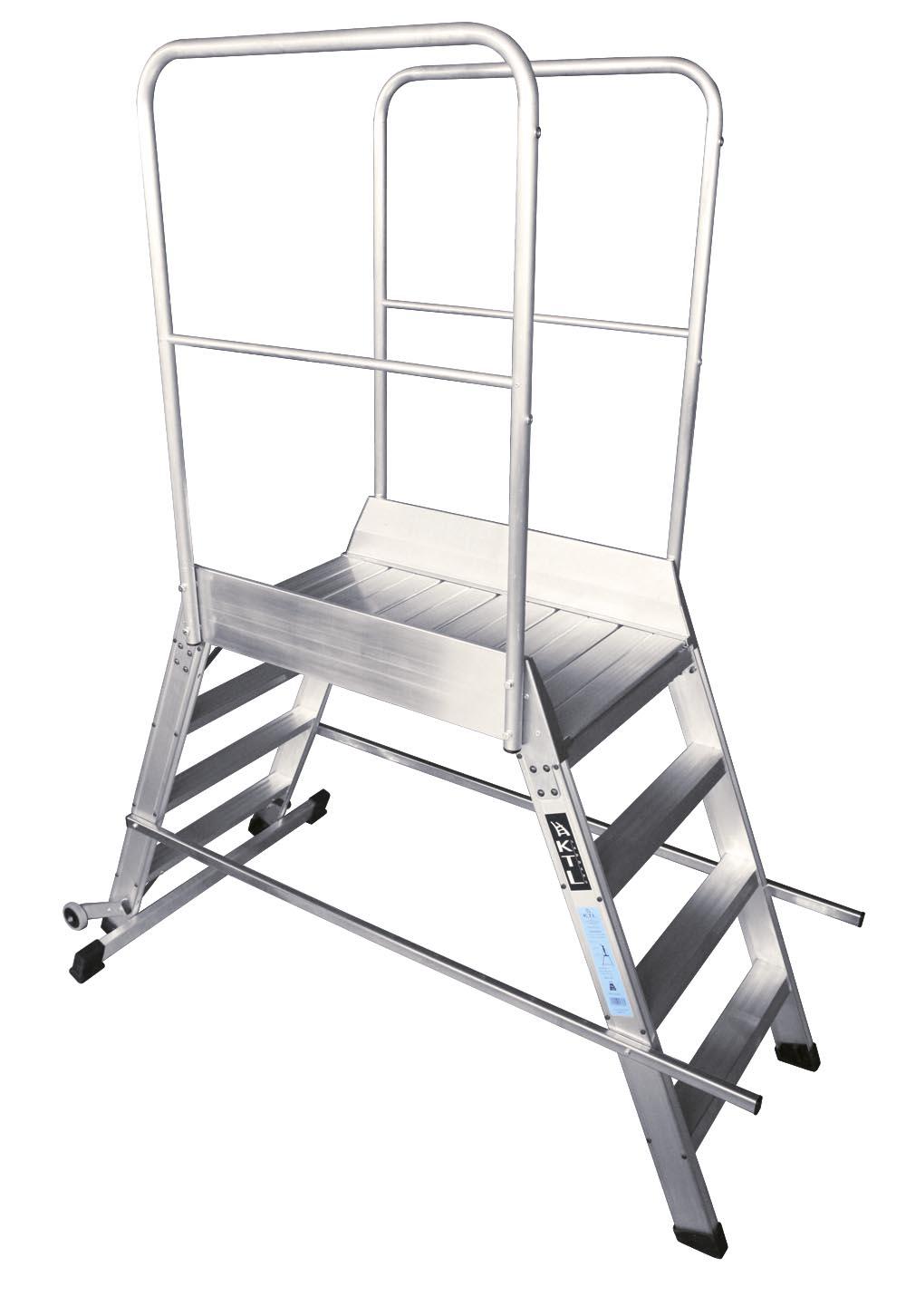 Escalera Fija con Plataforma y 2 Accesos - 3 Peldaños - Plataforma 60 x 60cm