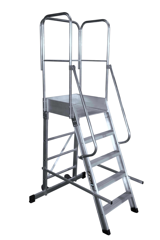 Escalera Fija con Plataforma - 3 Peldaños - Plataforma 49 x 60cm