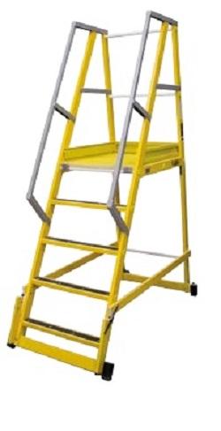 Escalera de Fibra para Almacen 65º - 3 Peldaños