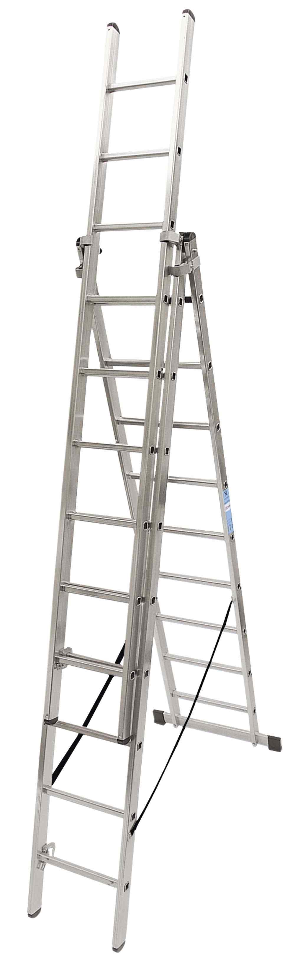 Escalera Triple con Base - 6 x 3 Peldaños