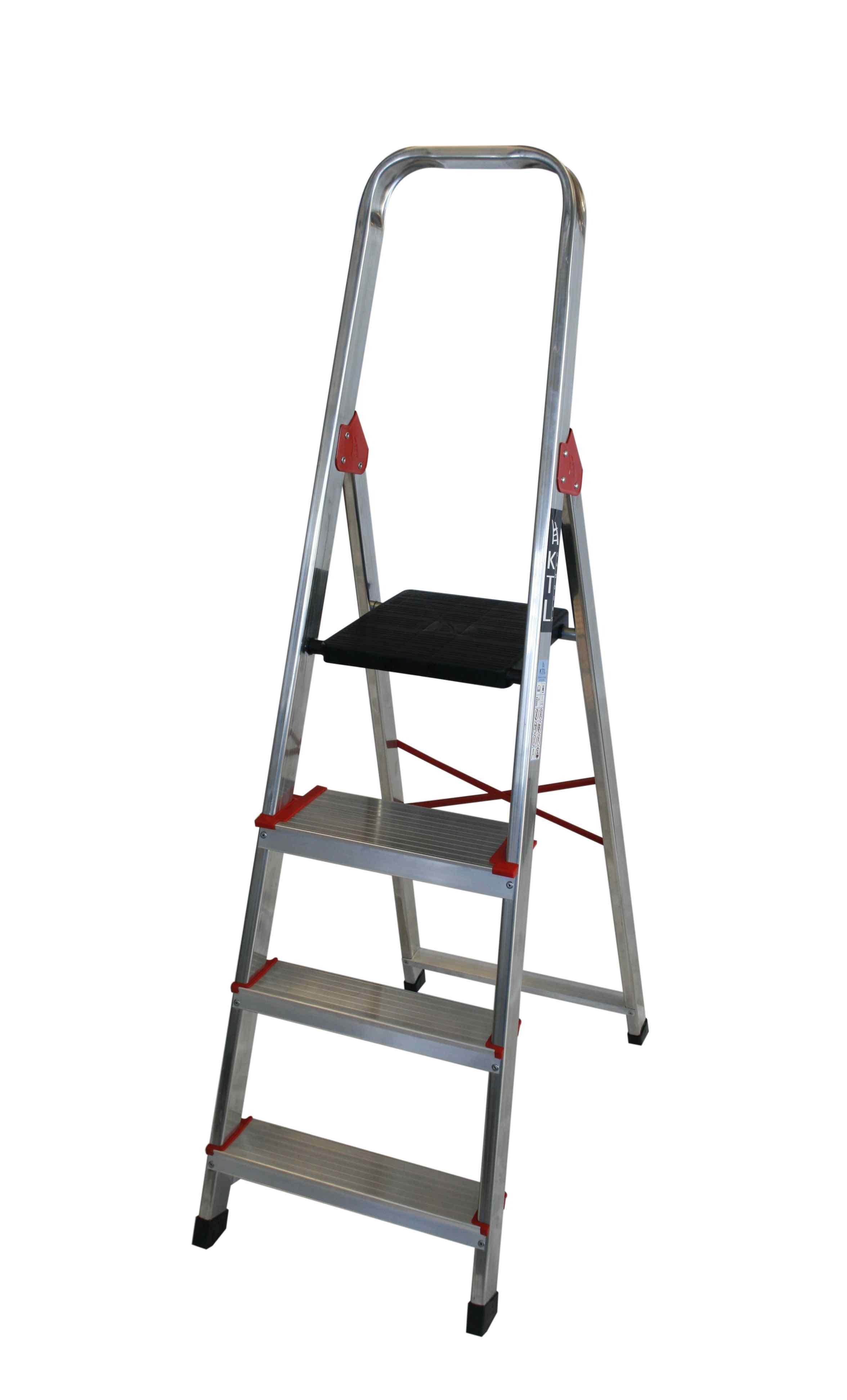 Escalera Tijera de Aluminio - 3 Peldaños