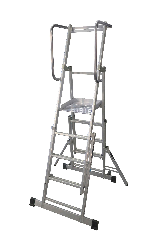 Escalera con Plataforma Plegable y Extensible - 3 Peldaños