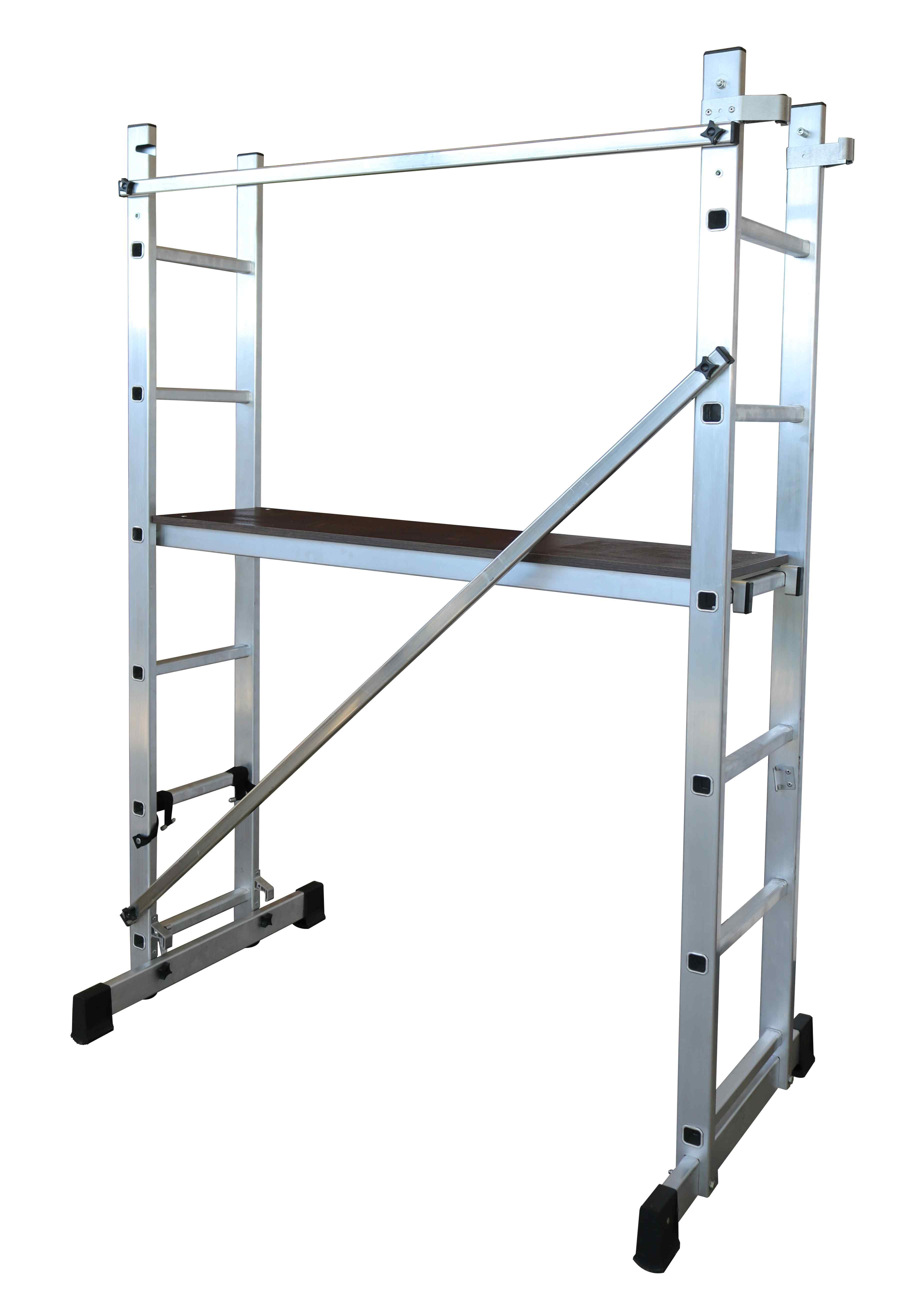 Escalera-Andamio Multiusos Aluminio - 6 x 2 Peldaños
