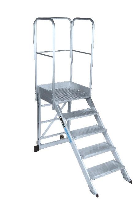 Escalera Fija con Plataforma 45º - 2 Peldaños