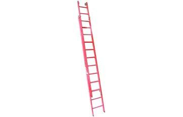 Escalera Doble Extensión Manual Fibra - 2 x 7 Peldaños