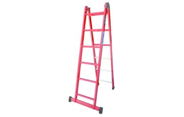Escalera de Fibra Plegable - 2 x 3 Peldaños