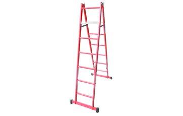 Escalera de fibra de vidrio de doble acceso - 2 x 7 Peldaños