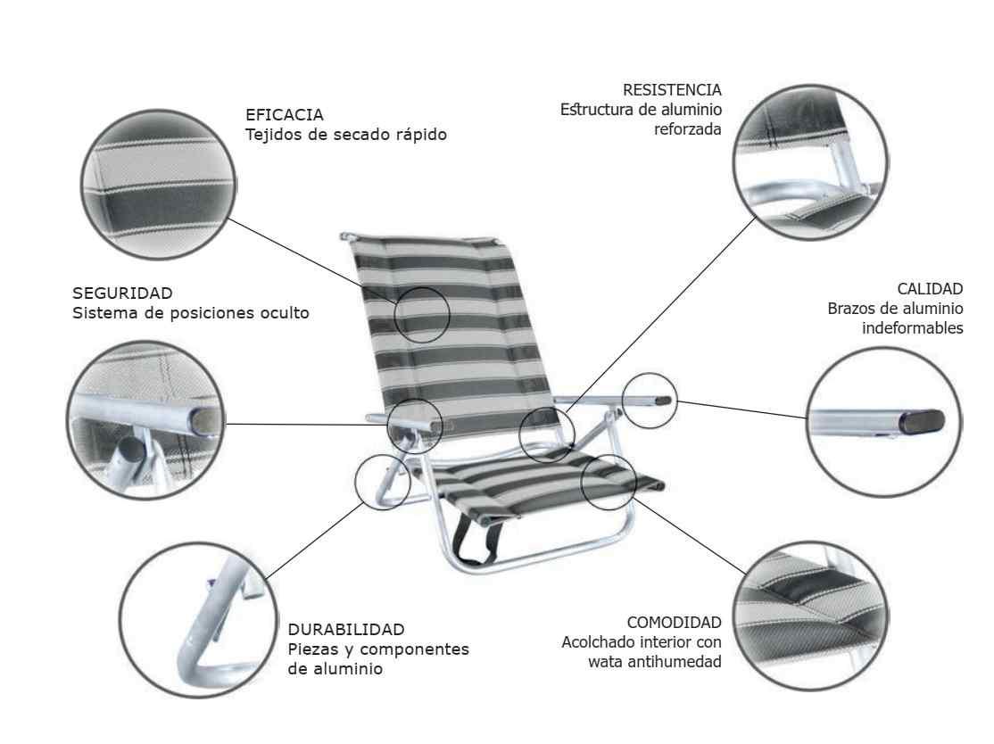 sillas de playa plegables alta calidad